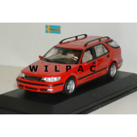 SAAB 9-5 Estate 1999 Imola rood Minichamps 1:43