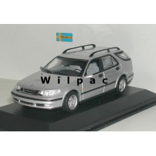 SAAB 9-5 Estate 1999 zilvergrijs metallic Minichamps 1:43