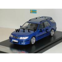 SAAB 9-5 Sport Combi Aero 2002 blauw metallic Premium X 1:43