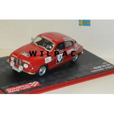 SAAB 96 1972 V4 Sweden Rally Blomqvist Hertz Eaglemoss 1:43