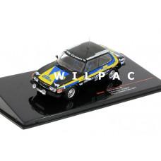 SAAB 99 EMS 1977 Rally van Zweden winnaar #4 Ixo Blomqvist Sylvan 1:43