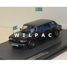 SAAB 99 1976 Limousine koning Carl Gustav XVI Zweden blauw MATRIX 1:43