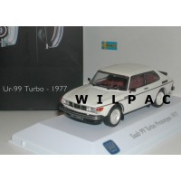 SAAB 99 1977 UR-Turbo prototype parelmoer wit Atlas 1:43