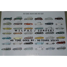 Poster As time goes by 1927-2017 90 jaar Volvo 70 x 100 cm.