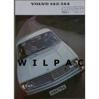 Folder Volvo 142 144 B20 RK 3448 modeljaar 1969 NL