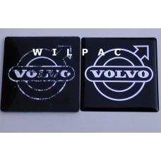 1246566 3D sticker embleem logo 70 mm grille Volvo 200 serie 1979 + dome gedomeerd