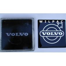 3D sticker embleem logo Volvo grille 78 mm. dome gedomeerd