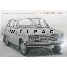 Instructieboekje Volvo 144 1967 Frans TP438