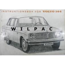 Instructieboekje Volvo 144 1967 Zweeds TP436