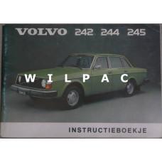 Instructieboekje Volvo 240 1975 Nederlands TP1169/1