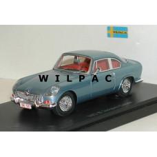 MG B Coupe Coune blauw metallic Autocult 1:43