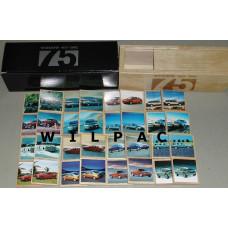 Memory spel 2002 75 jaar Volvo in luxe houten kistje