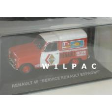 Renault 4 F4 Fourgonette Service Atlas Altaya 1:43 Servicio Vacanciones Spanje