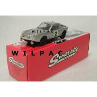 SAAB Sonett 2 II zilvergrijs Alpine rally 1966 Somerville # 135a