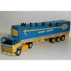 Scania 141 ASG Transport oplegger 1:43 ! Altaya