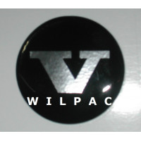 3D sticker wieldop V 42 mm. chroom dome gedomeerd Volvo