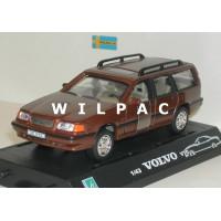 Volvo V70 1998 bruin metallic Cararama 1:43