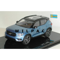 Volvo XC40 2018 bursting blue blauw metallic Kyosho 1:43
