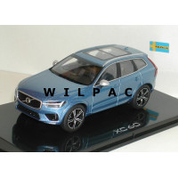 Volvo XC60 2018 bursting blue blauw metallic Kyosho 1:43